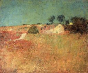 """Green Sky Landscape"" - 18""x 22"" - Oil  (1898)"