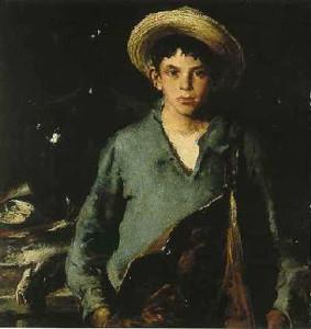 """Portuguese Fisherboy"" - 39.25""x 39.25"" - Oil  (1930)"
