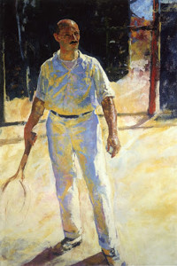 """""""The Tennis Player"""" - 72""""x 48"""" - Oil  (1924)"""