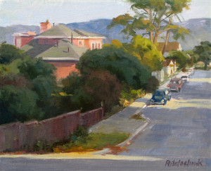 "The finish...""California Street"" - 8.25""x 10"" - Oil"