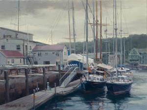 """Camden Harbor""  - 12""x 16""  -  Oil on canvas"