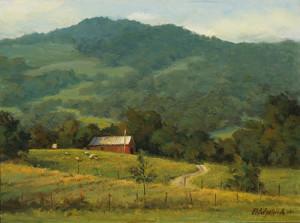"""""""Hillside Barn"""" - 12""""x 16"""" - Oil"""