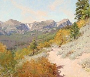 """Bierstadt Lake Trail"" - 24""x 28"" - Oil"