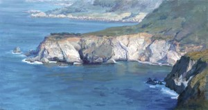 """Coastal Rock"" - 16""x 30"" - Oil"