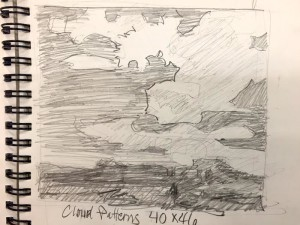"""Cloud Patterns"" - graphite sketch"