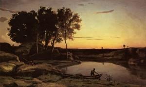 """Evening Landscae"" - 20.68""x 40.25"" - Oil  (1839)"