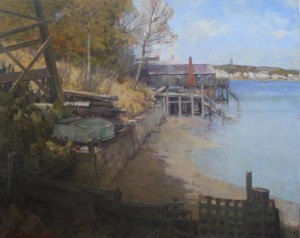 """""""Old Wharf in Provincetown"""" - 24""""x 30"""" - Oil"""