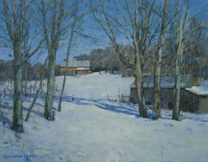 """""""Waiting for Spring, Vermont"""" - 24""""x 30"""" - Oil"""