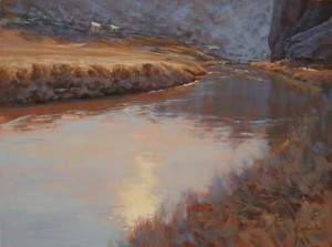 """""""Easy Does It Through the Canyon"""" - 18""""x 24"""" - Oil"""
