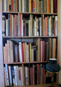 A small selection of Rockwell's art library.