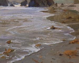 """The Gentle Surf"" (Shark Harbor) - 8"" x 10"" - Oil"