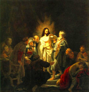 """Rembrandt - """"The Incredulity of St. Thomas"""" - Oil"""