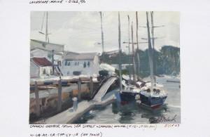 """Camden Harbor"" (Field Study) - 4.5"" x 6"" - Oil"