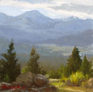 """Colorado Valley"" (Plein Air) - 10"" x 10"" - Oil"