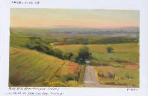 """""""The Endless Prairie"""" (Field Study) - 4.5"""" x 7.5"""" - Oil"""