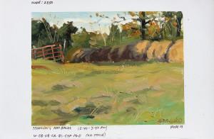 """Winter Hay"" (Field Study) - 4.5"" x 5.68"" - Oil"