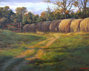 """Winter Hay"" - 24"" x 30"" - Oil"