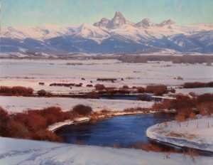 """""""At the End of Winter"""" - 22"""" x 28"""" - Oil"""