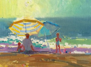 "Suzie Baker - ""Made in the Shade"" - 12"" x 16"" - Oil  (Honorable Mention)"