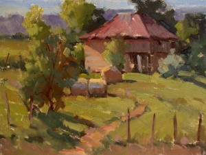 "Judy Crowe - ""Barn the WPA Built"" - 9"" x 12"" - Oil  (Honorable Mention)"