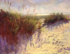 "Linda Dellandre - ""The Dunes"" - 11"" x 14"" - Pastel  (Honorable Mention)"