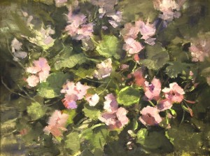 "Kaye Franklin - ""Patio Spring"" - 12"" x 16"" - Oil  (Award of Excellence)"