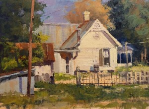 "Rusty Jones - ""Homestead"" - 12"" x 16"" - Oil  (Award of Merit)"