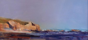 "Will Maller - ""Montera Indian Summer"" - 10"" x 20"" - Oil  (Honorable Mention)"