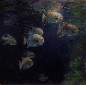 """Derek Penix - """"Spade Fish"""" - 40"""" x 40"""" - (Gold Medal, $30,000 prize. Associate/Signature member division)"""