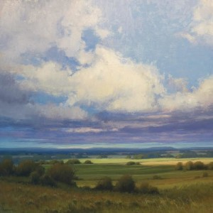 """""""Chasing Light"""" - 30"""" x 30"""" - Oil  (Honorable Mention, 2012-13 PleinAir Magazine Competition)"""