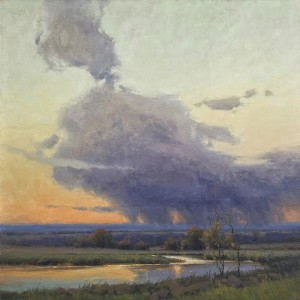 """""""Cloud Dance"""" - 30"""" x 30"""" - Oil  (Ted Goerschner OPAM Memorial Impressionist Award of Excellence in the 2015 National Oil Painters of America Show)"""