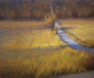 """""""Curve in the Road"""" - 20"""" x 24"""" - Oil  (Honorable Mention, Landscape Category, 2013-14 Art Renewal Center International Salon)"""