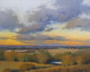 """Musil Farm-Evening Light"" - 24"" x 30"" - Oil"