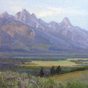 """""""Spring Creek Ranch"""" - 12"""" x 12"""" - Oil  (Grand Teton National Park permanent collection)"""