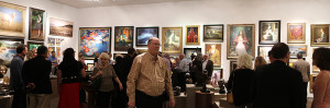 Opening reception of 25th Oil Painters of America National Exhibition and Convention, held in Dallas, TX at Southwest Gallery.