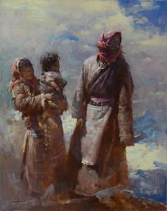 "Huihan Lin - ""At Mt. Tangulla Pass, Northern Tibet"" - 30"" x 24"" (Gold Medal, Master Division)"