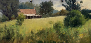 """Rusty Jones - """"House on the Point"""" - 10"""" x 20"""" - Oil  (Best of Show, Plein Air Competition)"""