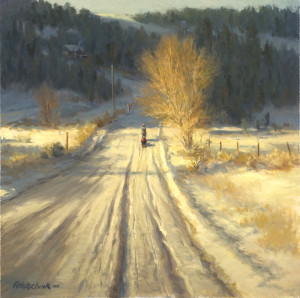 """""""Only in Winter"""" - 18"""" x 18"""" - Oil"""