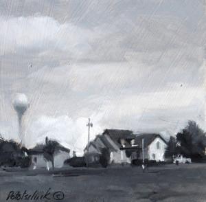 """Painted en plein air. 4.5"""" x 4.5"""" - Oil on gessoed paper"""