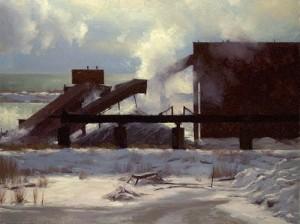 """""""Lake Superior Tackonite"""" - 30"""" x 40"""" - Oil"""