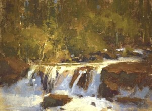 """Rushing Falls"" - 12"" x 16"" - Oil"