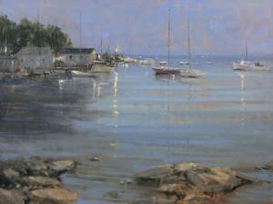 """Harbor at Dusk"" - 30""x 40"" - Oil"