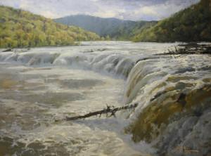 """New River Falls"" - 36"" x 48"" - Oil"