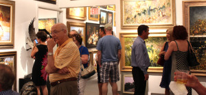 There was a constant flow of visitors during the two-day Art Festival