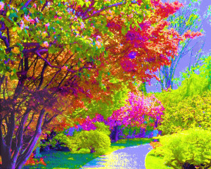 Painting-Of-Colorful-Trees-