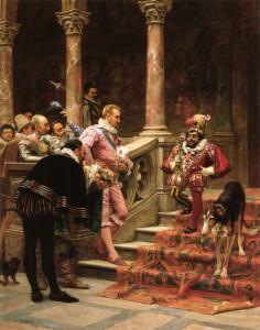 """Eduardo Zamacois y Zabala (1842-1871) - """"The Favorite of the King"""" - 22"""" x 17.76"""" - Oil   (1867)"""