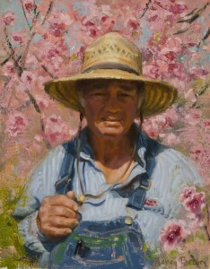 """""""A Man and His Orchard"""" - 16"""" x 12"""" - Oil"""