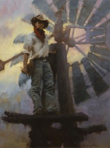 """""""Aloft in the Western Sky"""" - 40"""" x 30"""" - Oil  (Best of Show, Online National Oil and Acrylic Painters International; 2nd Place, Bold Brush Competition - Feb. 2014). Painting has been purchased by the Booth Museum in Cartersville, GA."""