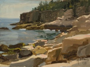 """Cliffs at Otter Point, Maine (Plein Air) - 9"" x 12"" - Oil  (Finalist, Bold Brush Competition - Dec. 2015)"