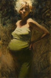 """""""Momma Mia!"""" - 30"""" x 20"""" - Oil  (Award of Excellence, National Oil and Acrylic Painters Spring Online International - 2015; Honorable Mention, Oil Painters of America Online Showcase, Spring 2015; Finalist, Artist's Magazine 2015; Texas Top 10 Portraits, Portrait Society of America, 2016)"""